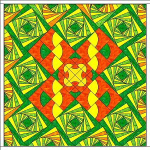 Joan orange green