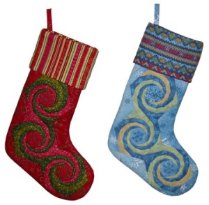 Spiral Christmas Stockings